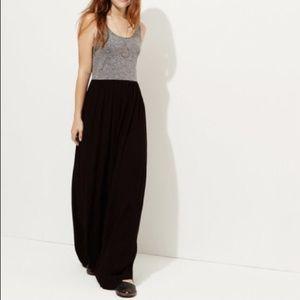Lou & Grey Black, Gray Crinkle Maxi Dress